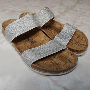 Size 10 Birkis 41 silver stretch strap curacao